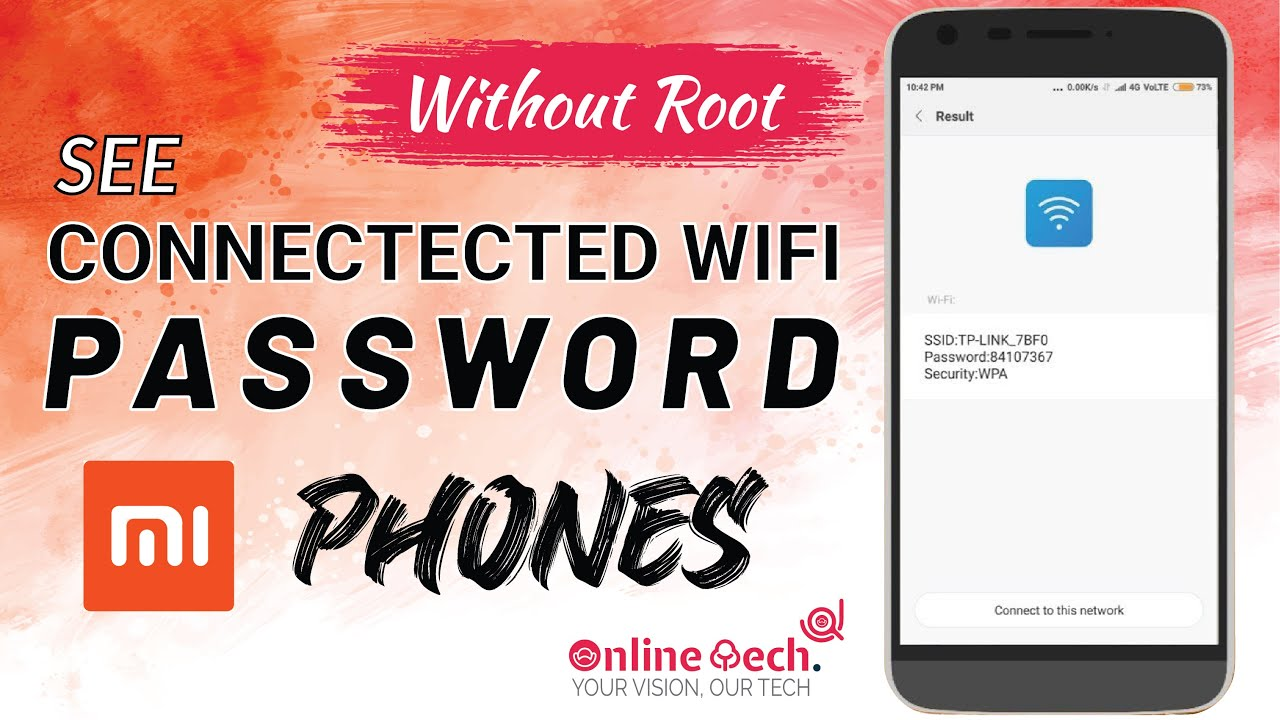 How To See Connected Wifi password in Xiaomi All Phone Without Root