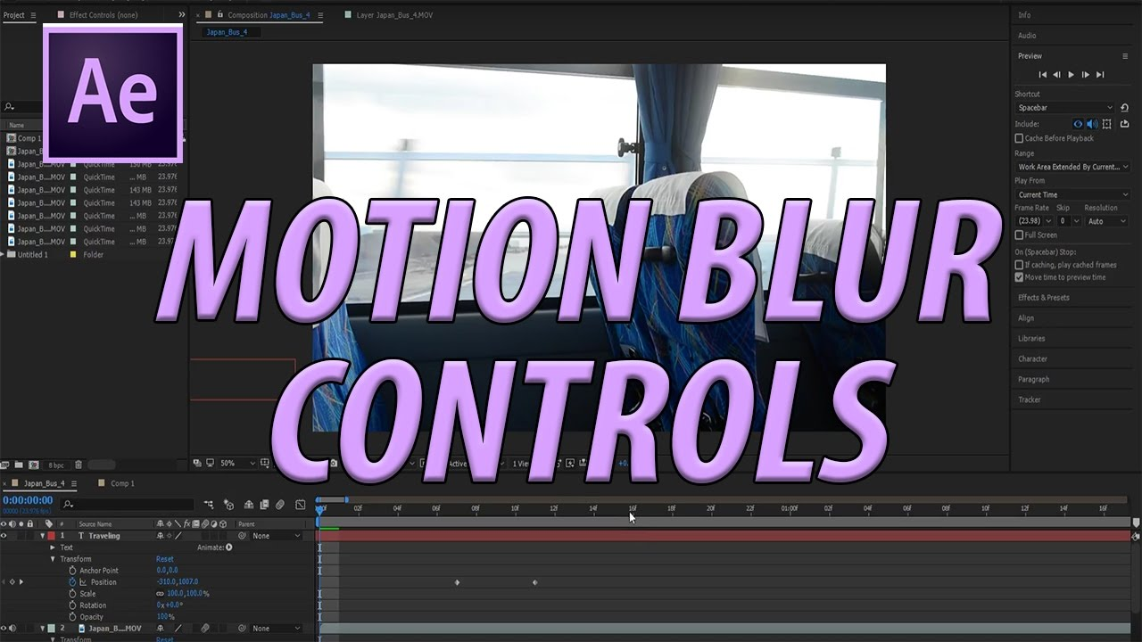 How to Add Motion Blur in Adobe After Effects CC (2017)