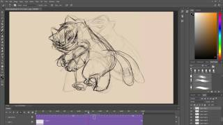 Animating in Photoshop: Fat Cat Dance- Speed Animate