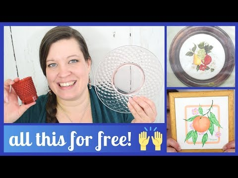 Free Finds at the Swap Shed! Depression Glass, Cross Stitch, Crewel & Needlepoint Kits, Retro Games