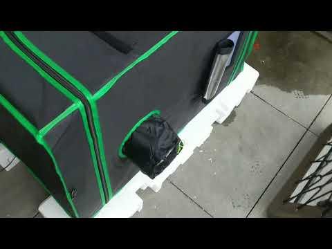 8 GPU Mining Rig On Waterproof Growing Tent In The Balcony!