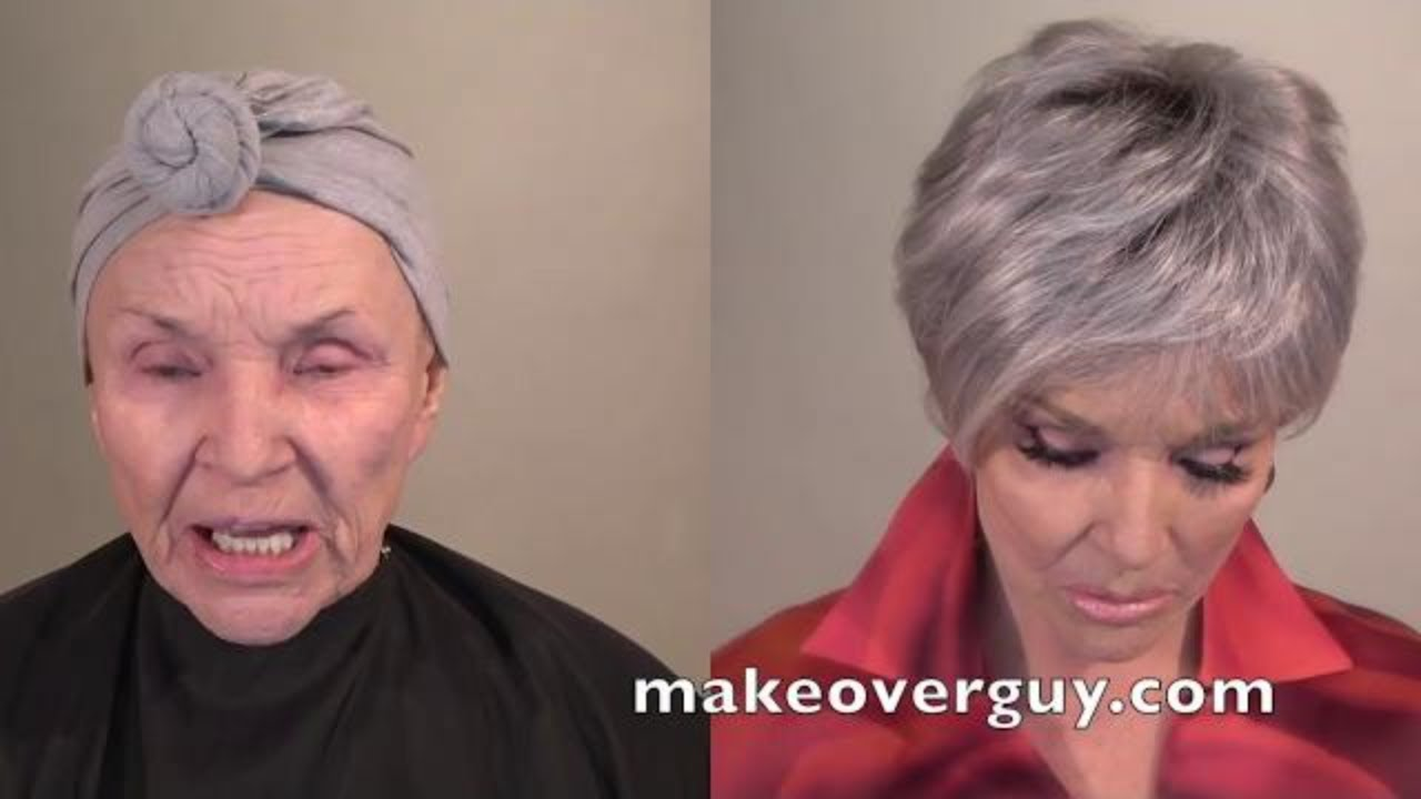 Old Granny Young Boy Porn Tube 78 year old recreates her younger face with makeup
