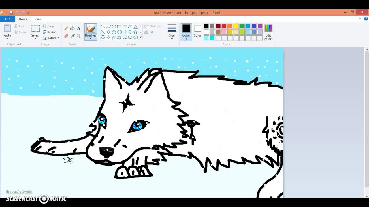 How to draw a wolf eye using paint youtube how to draw a wolf eye using paint ccuart Image collections