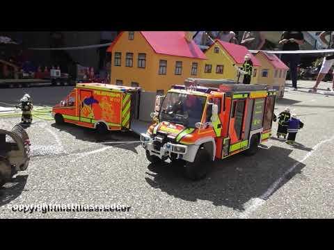 IG Modellfeuerwehr Schweiz Beim 2. Einsatz In Kaiseraugst 2019 (RC Feuerwehr)
