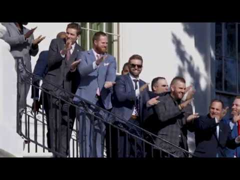 President Trump Welcomes The Washington Nationals To The White House