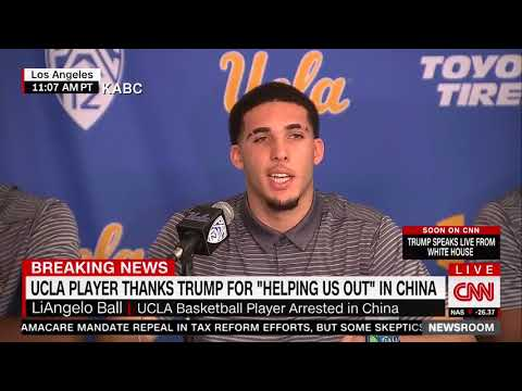 UCLA players express regret for shoplifting in China, thank Trump for interceding