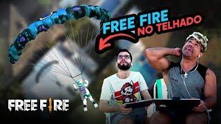 FREE FIRE NO TELHADO DA GAMELAND!!! - PLAYHARD E SHEVIII