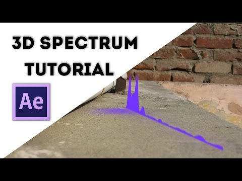 After effects Tutorial | 3D Audio spectrum