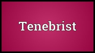 Tenebrist Meaning