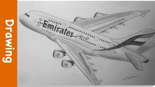 Drawing The Emirates A380