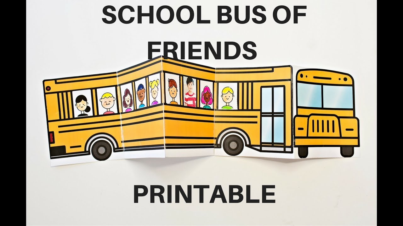 picture regarding Bus Printable referred to as Higher education Bus of Buddies Printable