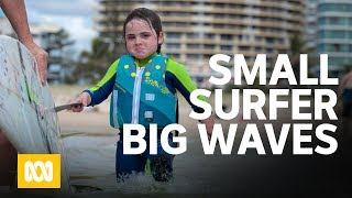 "A Small Surfer Makes Big Waves. (6 Year Old Quincy Symonds Aka ""the Flying Squirrel"")"