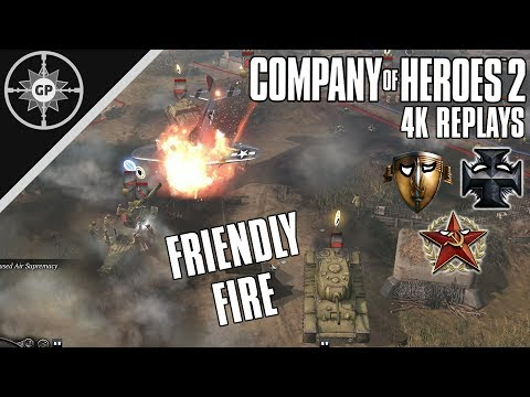 Choke Points \u0026 Friendly Fire - Company of Heroes 2 4K Replays #115