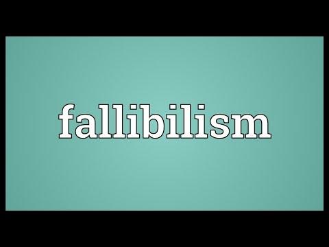 Header of fallibilism