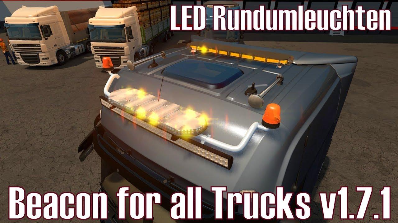 Ets2 V1 27 I Mod ★ Beacon For All Trucks V1 7 1 I Led