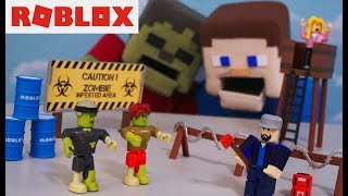 Roblox Zombie Attack Playset Action Figure Unboxing Rush Apocalypse Toys Hack Jazwares