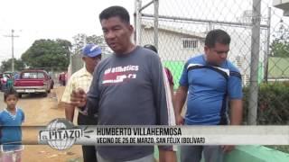 En San Félix, toman agua de la maternidad, llevan tres meses secos