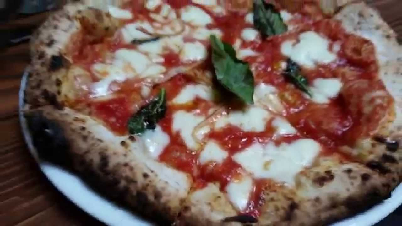Authentic Wood Burning Coal Fired Italian Margherita Pizza