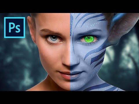 How To Create Avatar Effect | Manipulation | Photoshop CC 2017 Graphic Design Software | Adobe CC