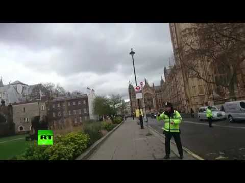 'Go! Go Away!': First moments of police locking down Westminster following attack