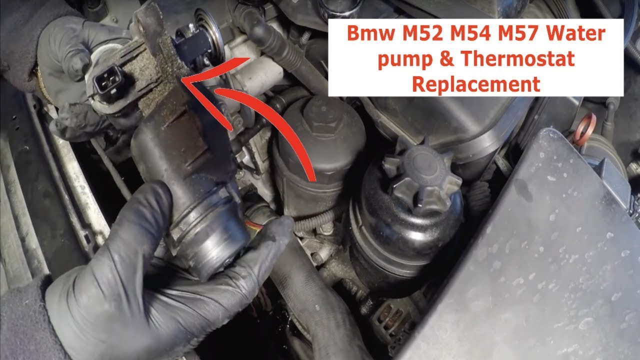 BMW M54 M52 M57 Thermostat Replacement & Water pump replacement Step By Step