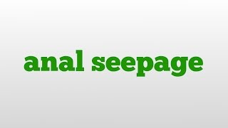 anal seepage meaning and pronunciation