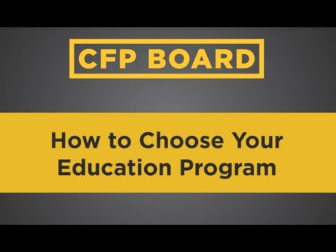 Path to CFP® Certification: Choosing a Financial Planning Education Program