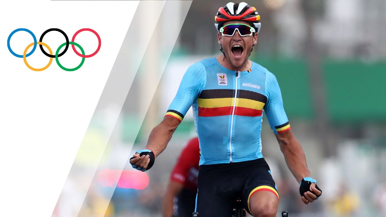 Van Avermaet wins gold in Men s Road Race - YouTube 245661067