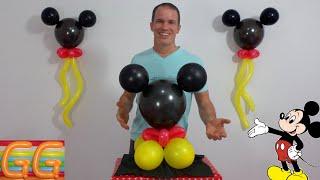 centros de mesa de mickey mouse - decoracion de mickey mouse para cumpleaños - decoracion con globos