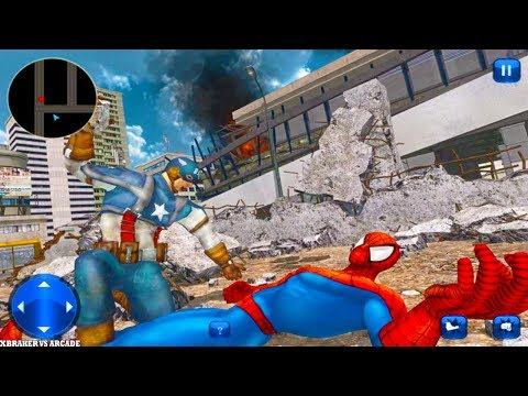 Super Spider Hero vs Captain USA Superhero Revenge Android Gameplay Full HD - 동영상