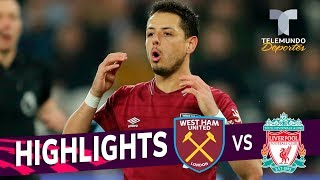 West Ham vs. Liverpool: 1-1 Goals & Highlights | Premier League | Telemundo Deportes