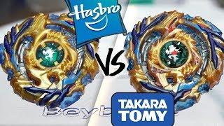 HASBRO VS TAKARA TOMY: Fafnir F3 .8.Nt VS Drain Fafnir .8.Nt - Beyblade Burst