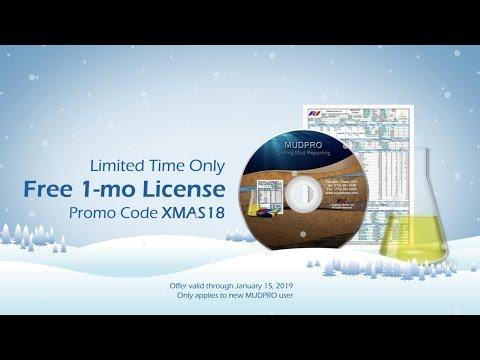 Christmas Promo: 1-mo Free MUDPRO (Drilling Mud Reporting Software)