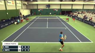 King vs. Smith 87 shots rally @ Drummondville Challenger, Canada 2015