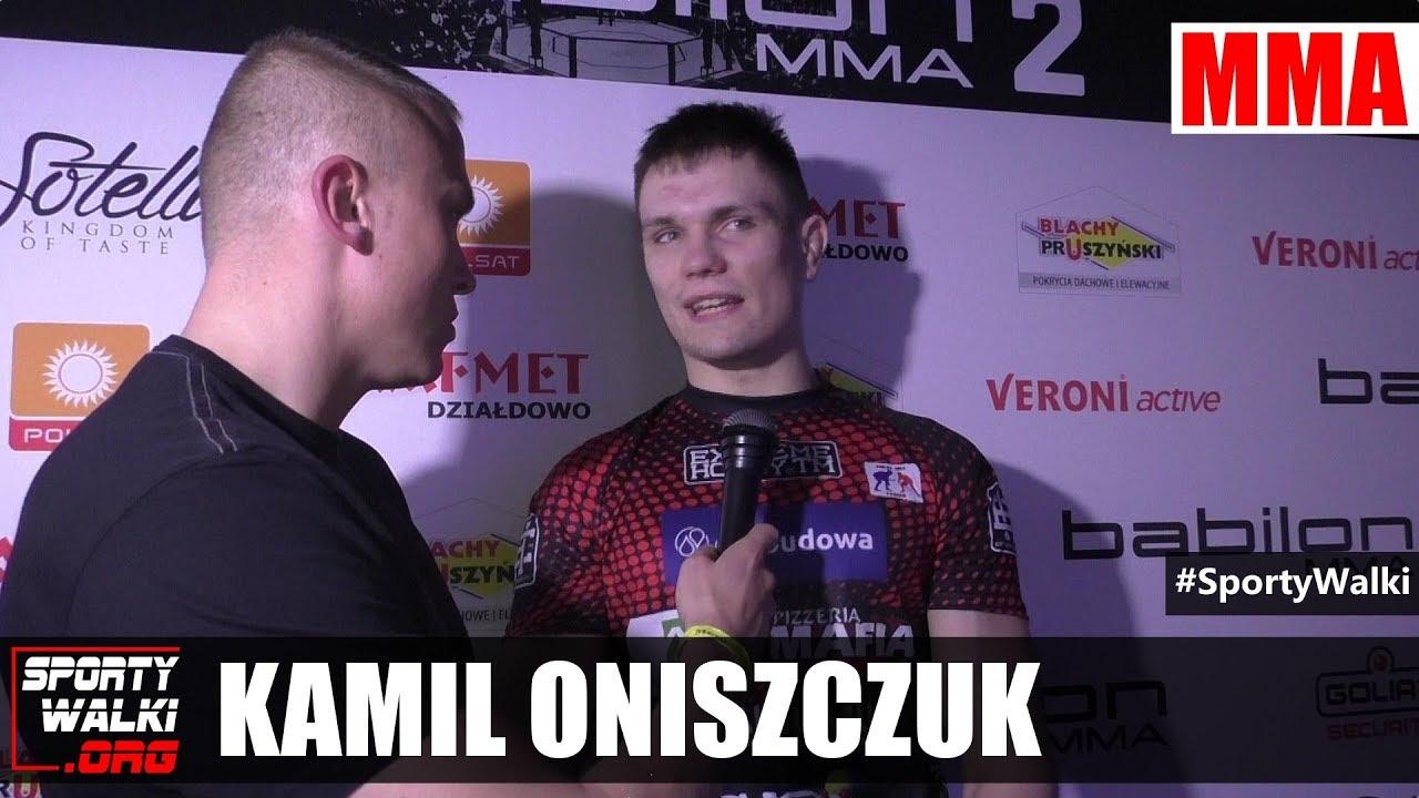 Kamil Oniszczuk po Babilon MMA 2