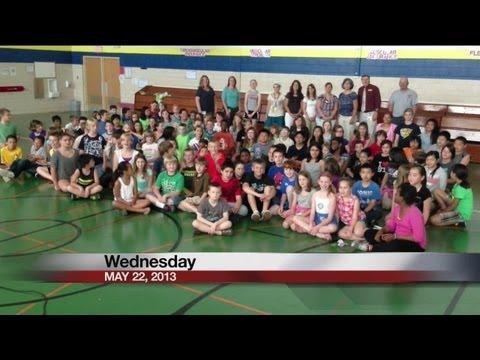 Edison elementary school students say Good Day