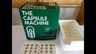 The Capsule Machine, How to fill 00 capsules a fast and easy way
