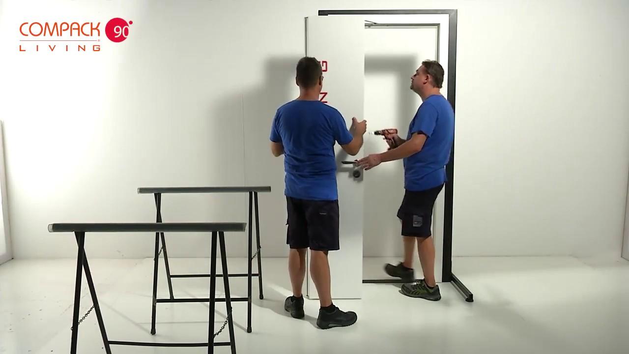Porta A Libro Compack 90180 Video Di Montaggio Installation Door Compack 90 180