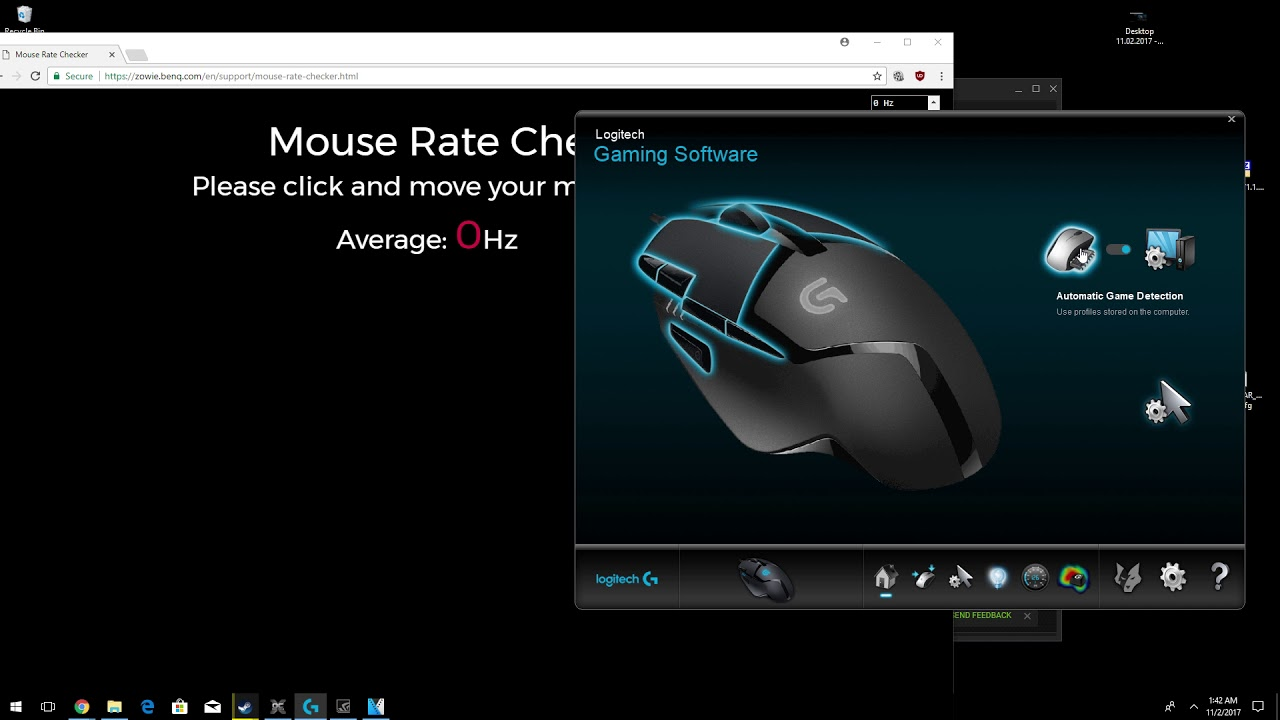 Logitech Gaming Software report / polling rate bug