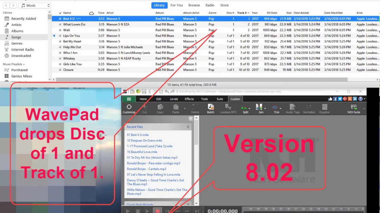 Update NCH WavePad Sound Editor Ver 8 02 still has bugs