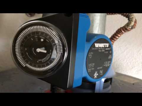Setting the Timer - Premier Watts 500800 Hot Water Recirculation Pump