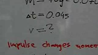 Example of a calculation with impulse and momentum.MOV