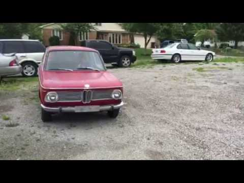 1966 BMW 1600-2 on open exhaust - YouTube