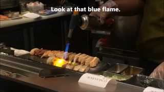 Itacho Sushi Chef Using Blow-Torch on Sushi Star Vista Singapore
