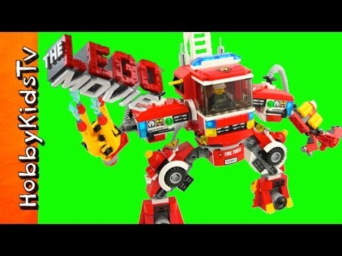 Firetruck Mech From The Lego Movie And Animated Build Youtube