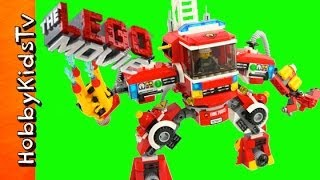 FIRETRUCK Mech from the Lego Movie and Animated Build