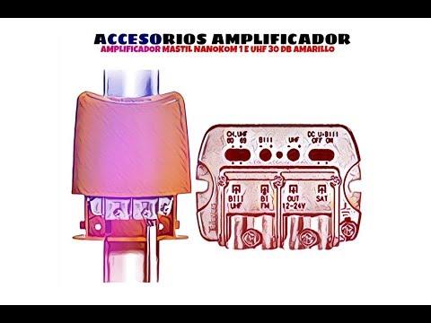 Video de Amplificador mastil nanokom 1e uhf 30 dB  Amarillo