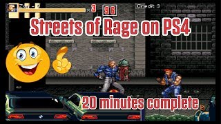 Streets of Rage PS4