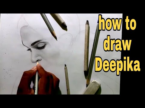#portrait draw of deepika padukone pencil sketch // deepika padukone sketch// #drawing thumbnail