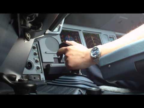 Airbus Cockpit Action - Landing (Sidestick View)